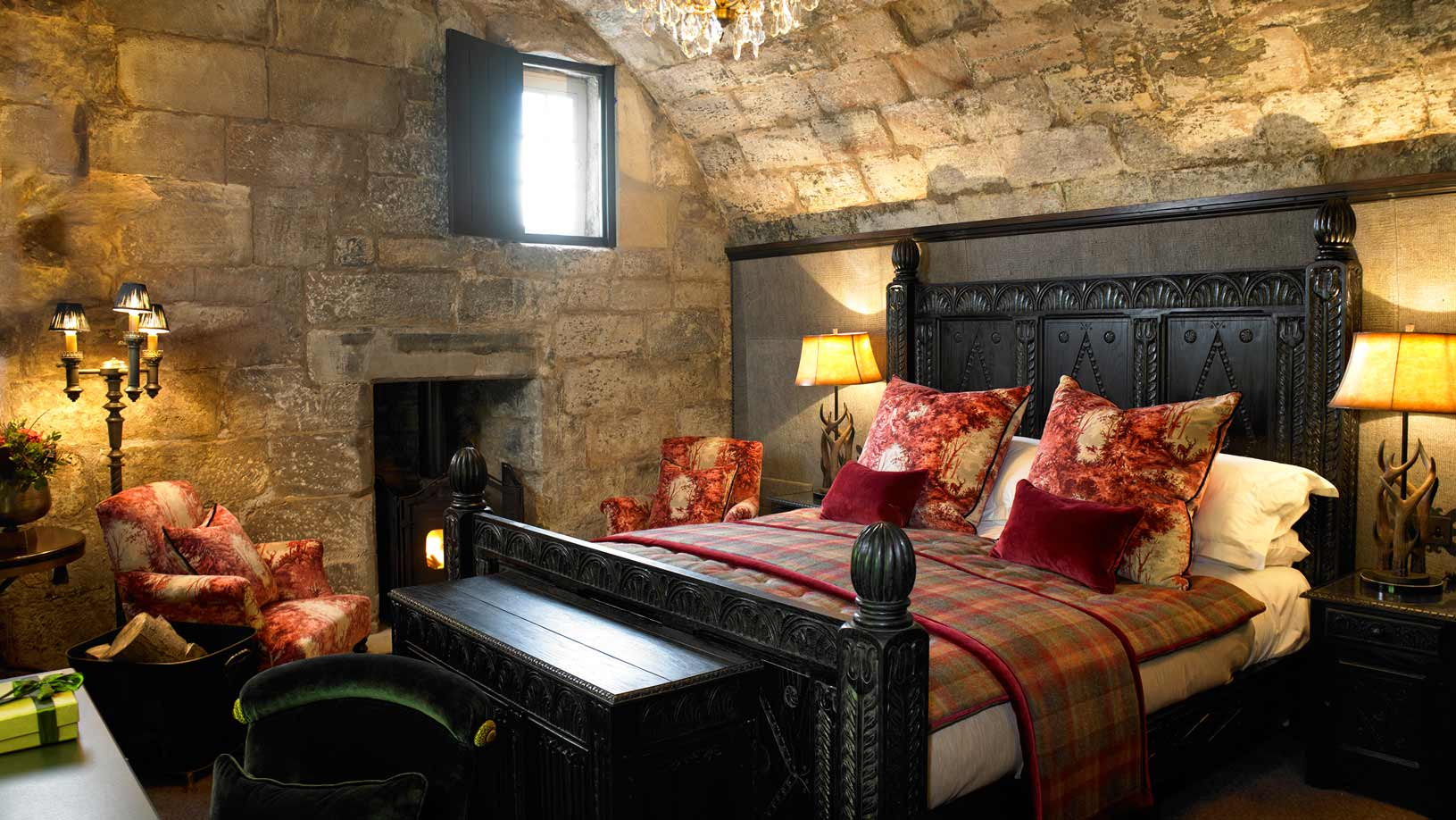 The Wizard's Tower Room at Borthwick Castle