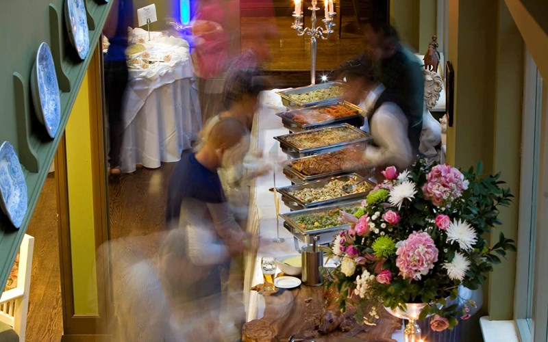 A buffet at Castle Leslie