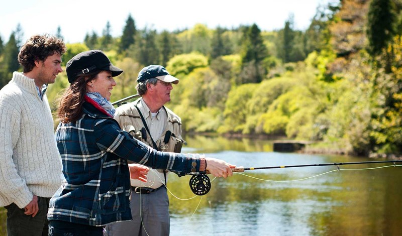 Fishing at Ballynahinch Castle
