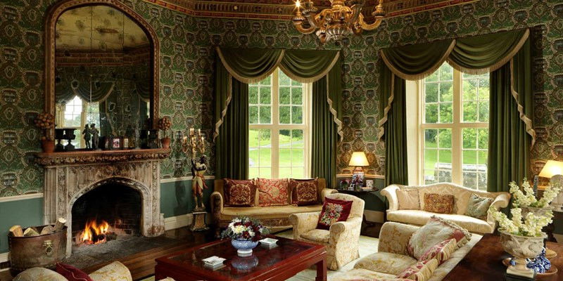 Lounge at Lough Cutra Castle
