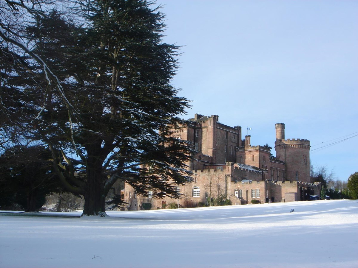 celebrate christmas at dalhousie castle 2017